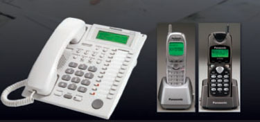 The KX-TAW848 system supports both wired and cordless phones.